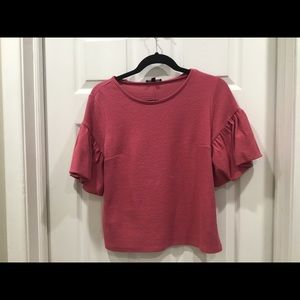 Express puff sleeve pink blouse